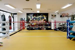 広島中区キックボクシングジム HADES WORK OUT GYM(ハーデスワークアウトジム) 広島市キックボクシングジム「ハーデス」リング写真