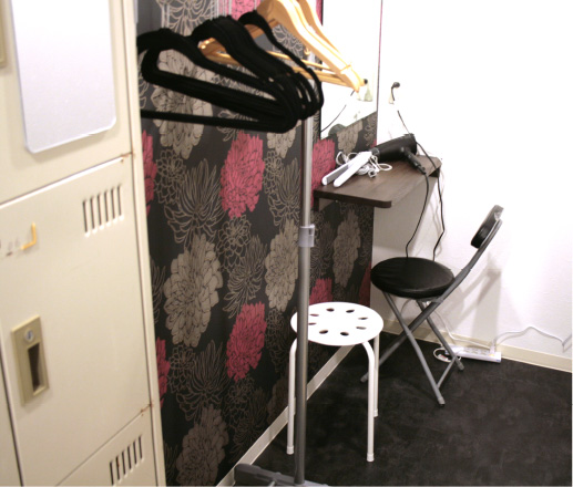 広島中区キックボクシングジム HADES WORK OUT GYM(ハーデスワークアウトジム) 女性専用更衣室